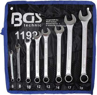 8piece combination wrench set 6,8,10,14,17,19,22mm image 1