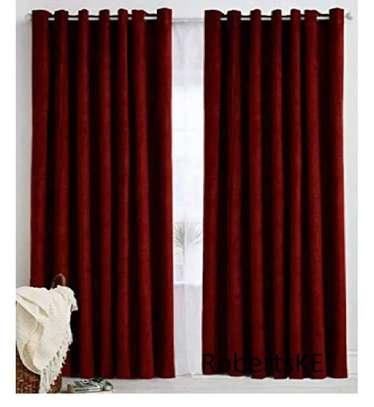turkish linen  marron curtain image 1