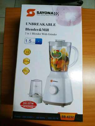 Sayona Unbreakable blender and mill-1.5L image 1