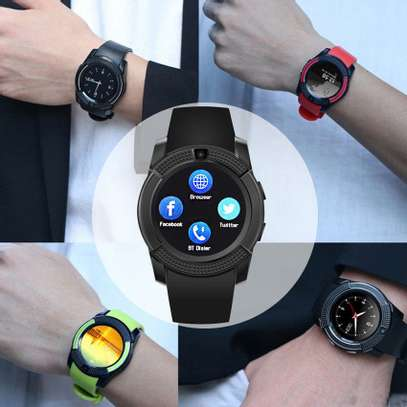 V8 Bluetooth Waterproof Smart Watch Phone Sport Watch Wristband SIM For Android image 1