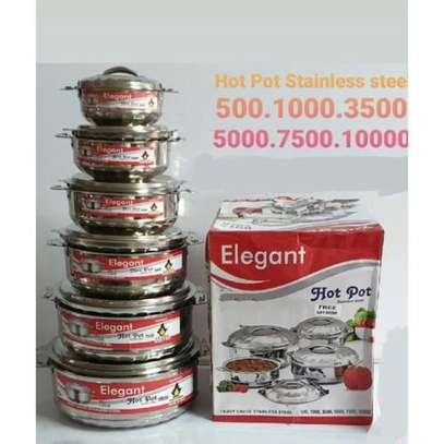 Elegant 6Pcs Stainless Steel Hot Pots image 3