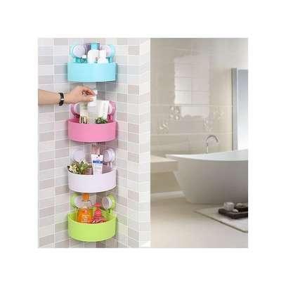 Triangle Traceless Suction Bathroom Shelves image 3