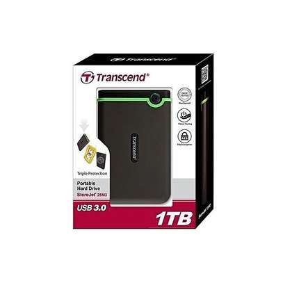 Transcend 500gb external backup harddrive image 1