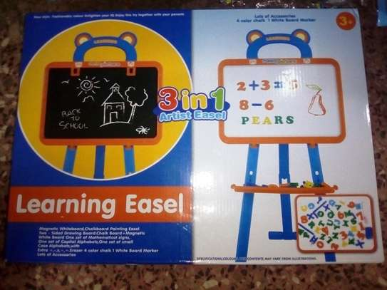3 in 1 Babies/Children Artist Easel Black, White Board image 1