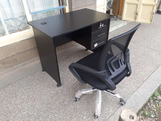 Office Desk 1Meter Black & Chair Ksh. 12,500.00 With Free Delivery image 5