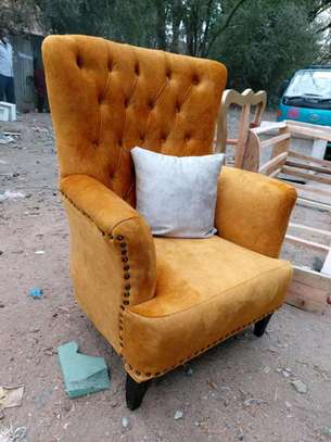 Tufted wingback arm chair image 1