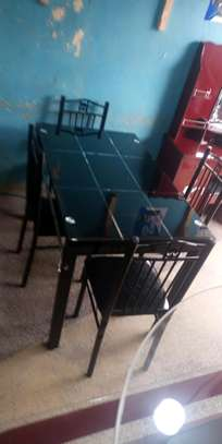 King home dining table with chairs image 1
