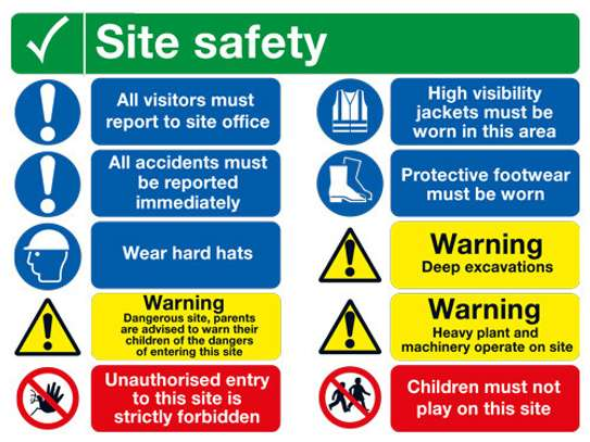 A1 Site safety signage