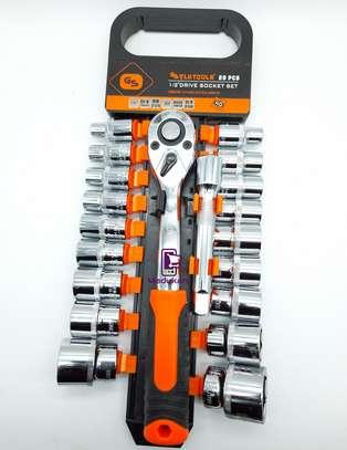 1/2 Inch 20PCS Ratchet Wrench Box Spanner Socket Set image 2