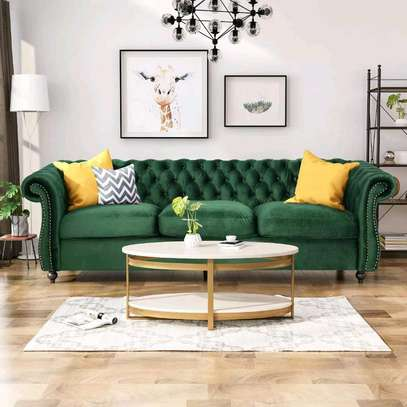 Green three seater sofa for sale in Nairobi Kenya/latest chesterfield sofa set designs in kenya image 1