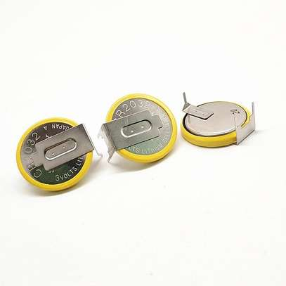 3V Soldered 2 Pins CR2032 Battery For Main Board Remote Control Game Toy image 1