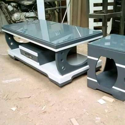 Stylish Contemporary Quality Coffee Table + 2 Stools image 2