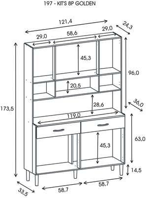 Kitchen Cabinet with 8 Doors - Kits Parana image 9