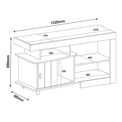 TV STAND ROYAL RUSTIC image 2