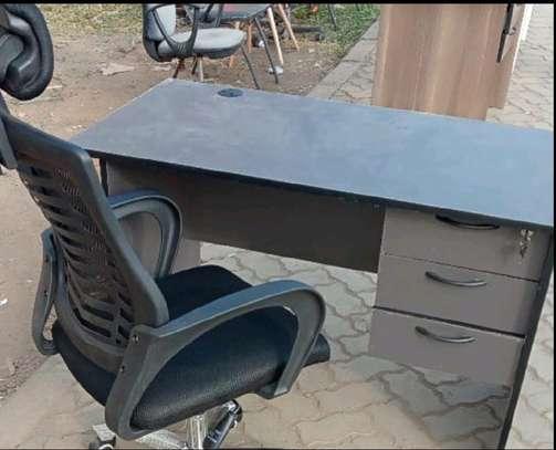 Superb lumbar support headrest chair plus laptop desk image 1