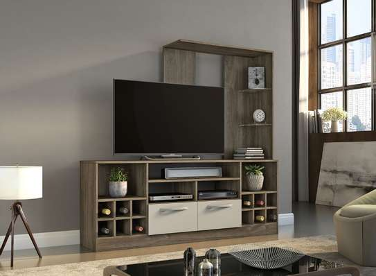 tv unit with wine rack image 1