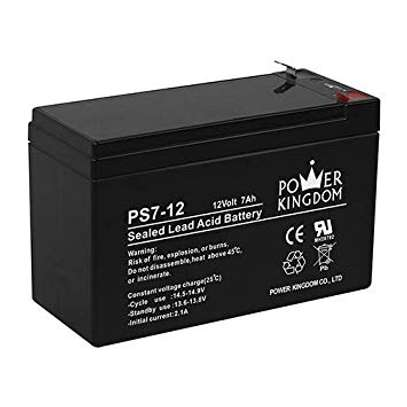 Rechargeable UPS Battery 12V - 7AH Ideal For Solar Or Access Control image 1