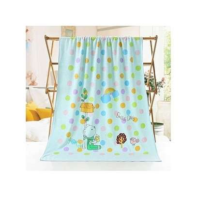 Baby Towel Cotton Cartoon Animal Baby Bath Towel - Blue.