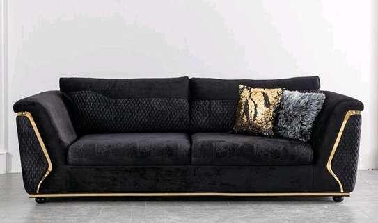 Black three seater sofas for sale in Nairobi Kenya/Quality sofas/Unique sofa image 1