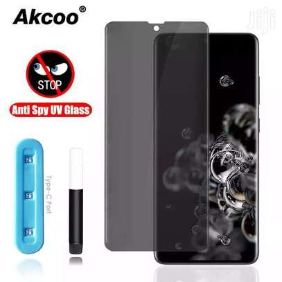UV Privacy Anti-Spy Anti-Peep NANO Liquid Full Glue Tempered Glass For Samsung S20 S20+ S20 Ultra image 2