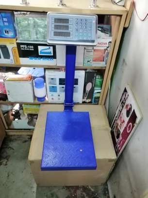 100KG electronic weighing platform scale meter sgies weighing scale home scale image 1
