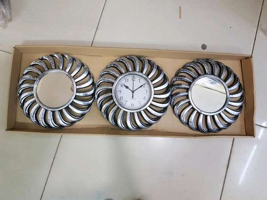 Decorative clock mirror sets