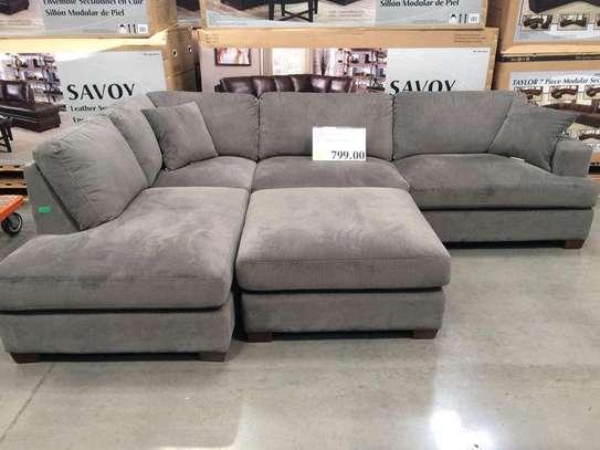 Six seater L shaped sofas for sale in Nairobi Kenya/Modern grey sofas image 1