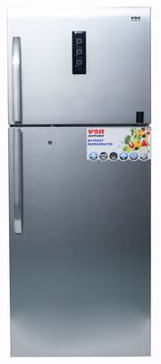 Von Hotpoint HRN-602S Double Door Fridge 450L, STS, Non Frost, LED - Silver image 1