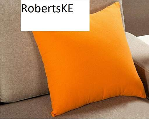 bright orange throw pillow image 1