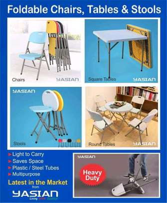 Foldable chairs, tables and Stools on offer image 2