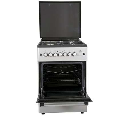 Standing Cooker, 58cm X 58cm, 3 + 1, Electric Oven, Light Brown TDF image 1