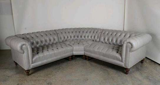 Six seater grey chesterfield corner sofas for sale in Nairobi Kenya/Sofas and Sectionals for sale in Nairobi Kenya/Corner sofas image 1