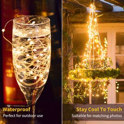 Lights for Bedroom Wall Ceiling Christmas Tree Wreath Craft Wedding Party Decoration, Warm White image 1