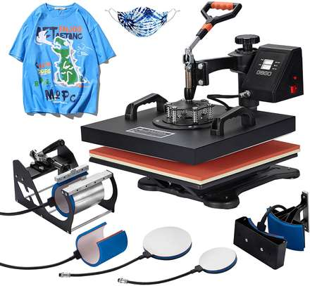 Digital Heat Press Transfer 6 in 1 Swing Machine image 1