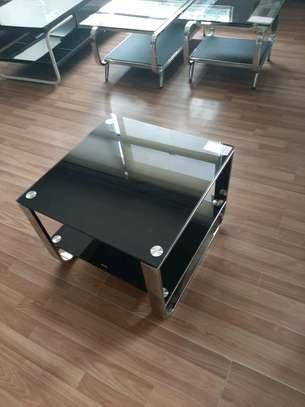 Glass side stool image 1