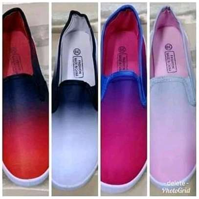 Multicolored ladies rubber shoes image 1