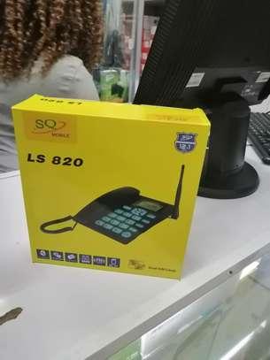 SQ Mobile GSM FIxed Wireless Desktop Phone Landline With Dual Sim Card Slot image 1