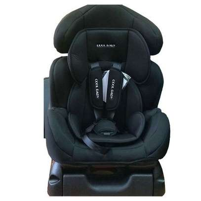 Big Infant Car Seat with a Reclining Base - Black(0-7 years). image 1