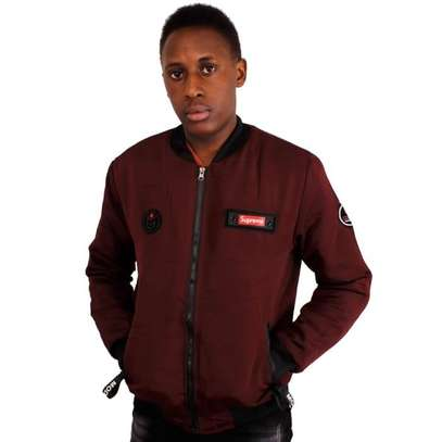 Supreme maroon men bomber jacket H.W.