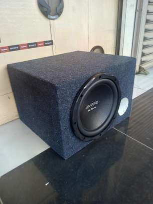 KENWOOD KFC-HQR3000 SUBWOOFER BRANDNEW 1500 WATTS fitted in cabinet image 1
