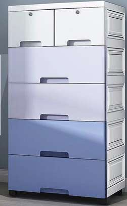 Bedroom Chest of Drawers Baby Drawer Storage Cabinet Plastic Storage Cabinet Children's Wardrobe
