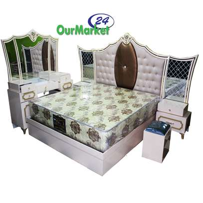 Bed Room Set 6x6 Plus, King Size ,Cream With Mix Brown image 1
