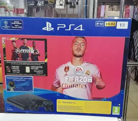 Sony PlayStation 4 Slim, 1 TB, 2 Controllers, With FIFA 20 image 1