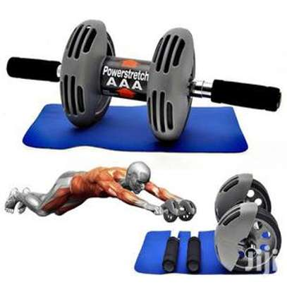 Power Stretch Roller Heavy Duty Spring Reflexive Effect Double Wheel Total Body Exerciser AB Roller