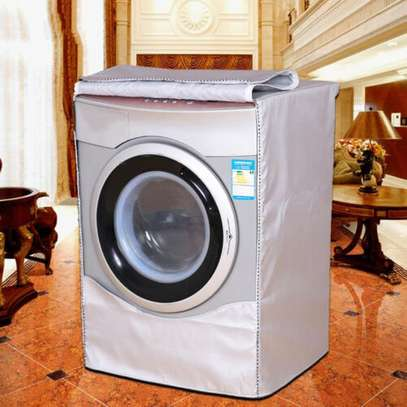 Silver Washing Machine Cover Waterproof washer Cover for Front Load Washer/Dryer image 5