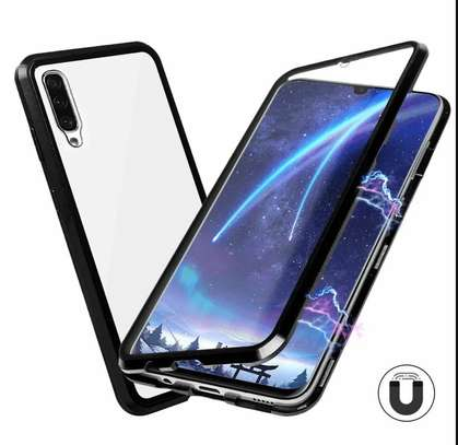 Magnetic Double-sided 360 Full Protection Glass Case for Samsung A70 A60 A50 A40 A30 image 12
