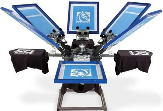 6 Color 6 Station Screen Printing Press Printer Floor Stand Type Double Rotary Silk Screen Printing Machine image 1
