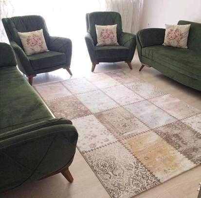 Three seater sofa/eight seater sofa/one seater sofa/green sofas image 1