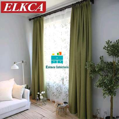 Plain fabrics curtains suitable for your living room image 2
