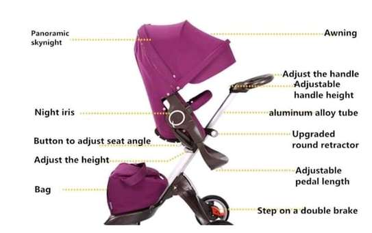 LUXUROUS TRAVEL SYSTEM - Premium Quality Stroller, A Travel Bag & Bassinet image 7